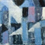 »weiß und blau und himmelgrau (in der Fremde mein Zuhause)«, 2013, 120 x 140 cm