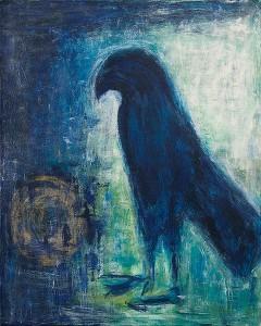 Schattenvogel, 80 x 100 cm, Acryl auf Leinwand