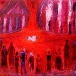 »Die Seiltänzerin«, 2011, 100 x 100 cm