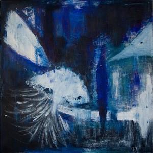 »Meerestiere«, 2010, 100 x 100 cm, Acryl auf Leinwand