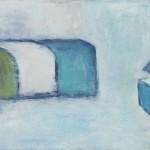 »Strandkörbe mit Eisstand«, 2013, 100 x 80 cm
