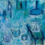»In meinem Atelier«, 2013, 100 x 100 cm