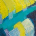 »Straße mit gelben Markisen«, 2014, 80 x 100 cm
