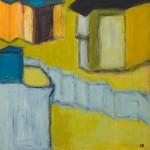 »Der Zaun«, 2014, 100 x 100 cm