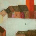 »Das Mädchen und der Vogel (Hommage an Hilde Domin)«, 2013, 80 x 100 cm