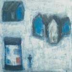 »Die Litfaßsäule (Das rote Plakat)«, 2013, 100 x 100 cm