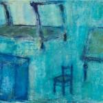 »Was der Mensch braucht (Bett, Tisch, Stuhl, Schrank), 2013, 80 x 100 cm